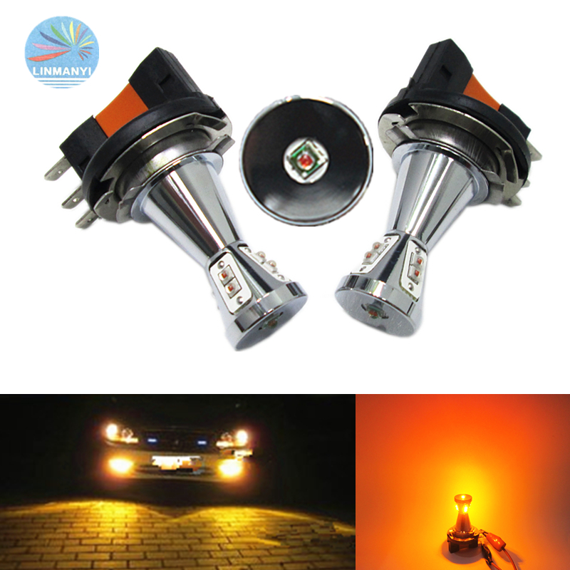 2pcs <font><b>H15</b></font> Fog Lights CANBUS <font><b>No</b></font> <font><b>error</b></font> free <font><b>H15</b></font> 50W 9LED Fog Lamps Driving lights Yellow DC 12V CAR <font><b>LED</b></font> <font><b>H15</b></font> Daytime running lights image