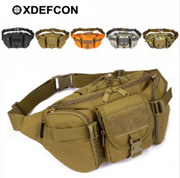 Camping & Hiking Tactical Waist Pack Cross Body Bag Military Waterproof Fanny Packs Bag Pouch For Hiking Climbing Outdoor black