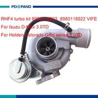 auto turbo kit RHF4 turbocharger compressor for Isuzu D Max Holden Rodeo Colorado Gold Series 3.0TD 8980118923 8980118922 VIFE