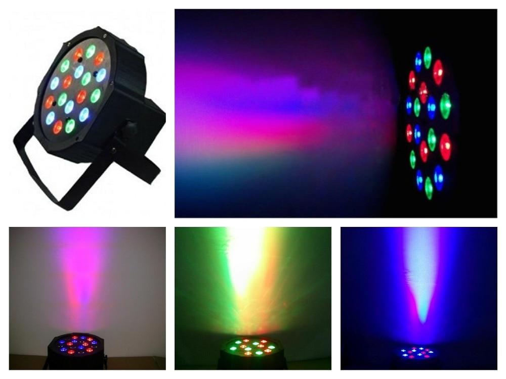20ks / Lot, LED par Ploché světlo 18 W RGBW Par64 Slim Lights disco scéna dj rgb scéna Vybavení DMX