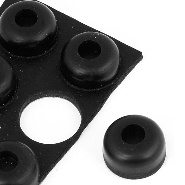 Furniture Hemispherical 14mmx7mm Adhesive Rubber Pads Protector 6 In 1