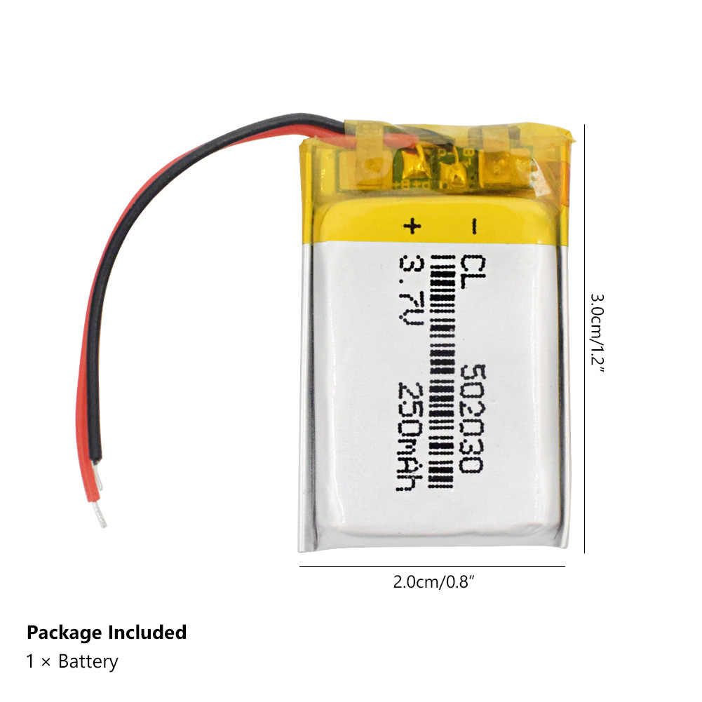 充電式リチウムポリマー電池052030 502030 3.7v 250mah MP3 MP4おもちゃポリマーリチウム電池gps mid bluetoothヘッドセット