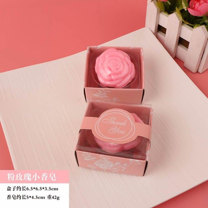 20 шт./лот мини-мыло ручной работы с ароматом для сувенир для свадебной вечеринки и детского душа подарок Свадебные сувениры Мыло для купания - Цвет: pink rose