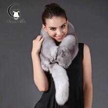 2016 Winter Scarf Women Fur Fox Luxury Quality Whole Fox Scarf Real Fox Fur Female Hijab Scarf Warmer Fashion Fox Scarf