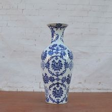 Tao Caicai blue and white porcelain vase of modern Chinese foreign trade Home Furnishing decoration ceramic flower flowe