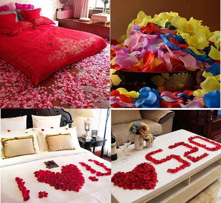 JaneVini Melemparkan Kelopak Sutra Buatan Kelopak Mawar 1000 pcs Bunga Gadis Palsu Petales De Rose Petals Untuk Pernikahan Partai Dekorasi