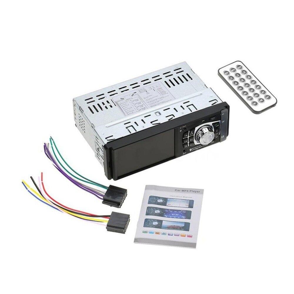 4012B 4.1 pouce 1 Din autoradio Auto Audio stéréo FM Bluetooth 2.0 MP5 Support de lecteur caméra de recul commande au volant
