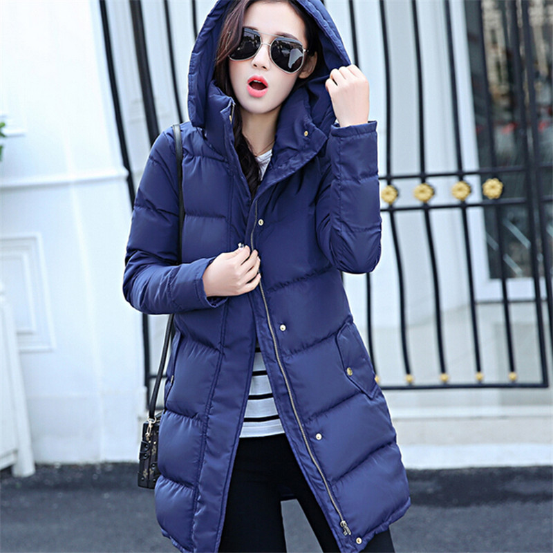 Winter Coat Women Long Thick Women Winter Clothing Cotton Padded Jacket Hooded Parka Winter Woman Down Jacket For Female TT258 fashionable thick hooded pleated down coat for women