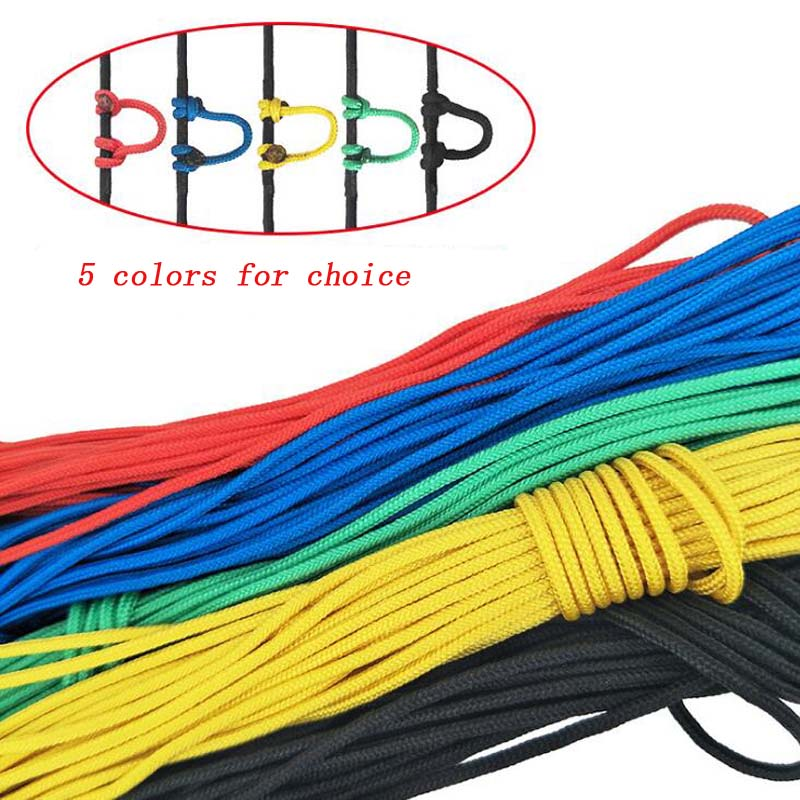 3 Meter Archery Compound Bow D Loop Rope Nylon String Cord Release U Rope Nocking D Ring Hunting Accessories