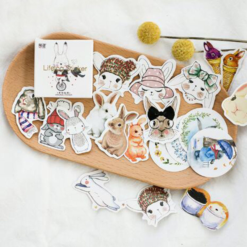 45pcs/Box Easter Bunny Rabbit Stickers Pack Kawaii Planner Scrapbooking Sticky Stationery Escolar School Supplies45pcs/Box Easter Bunny Rabbit Stickers Pack Kawaii Planner Scrapbooking Sticky Stationery Escolar School Supplies