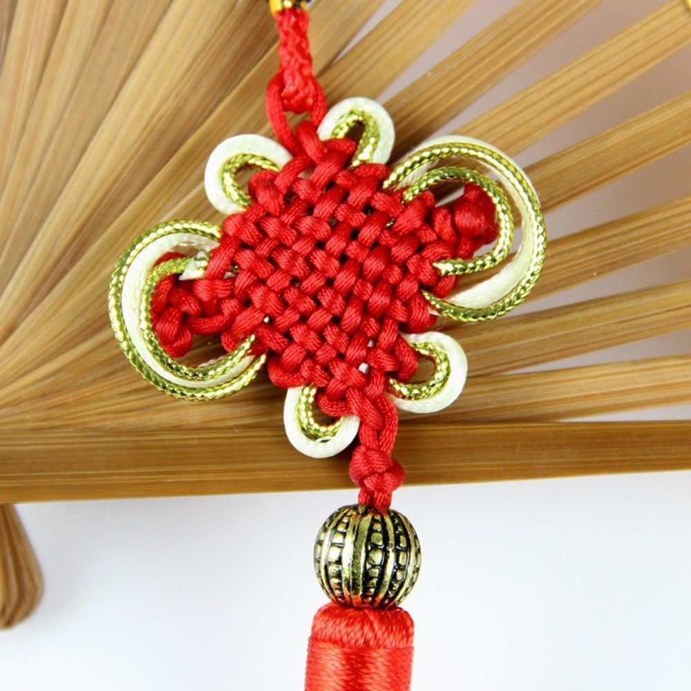 Chinese Tassel Lucky Knot New Year Decorations Talisman Good Luck Knots Gift Red