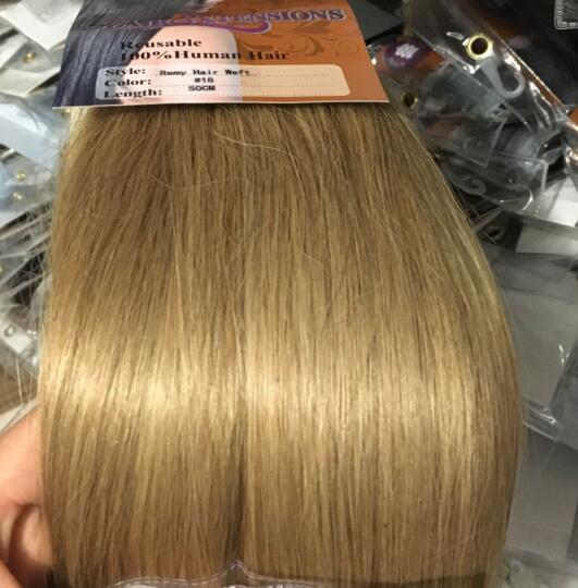 """ZZHAIR 80 г 1""""-24"""" машинное производство remy волосы лента Конский хвост на заколках человеческие волосы для наращивания конский хвост Натуральные Прямые Волосы - Цвет: #18"""