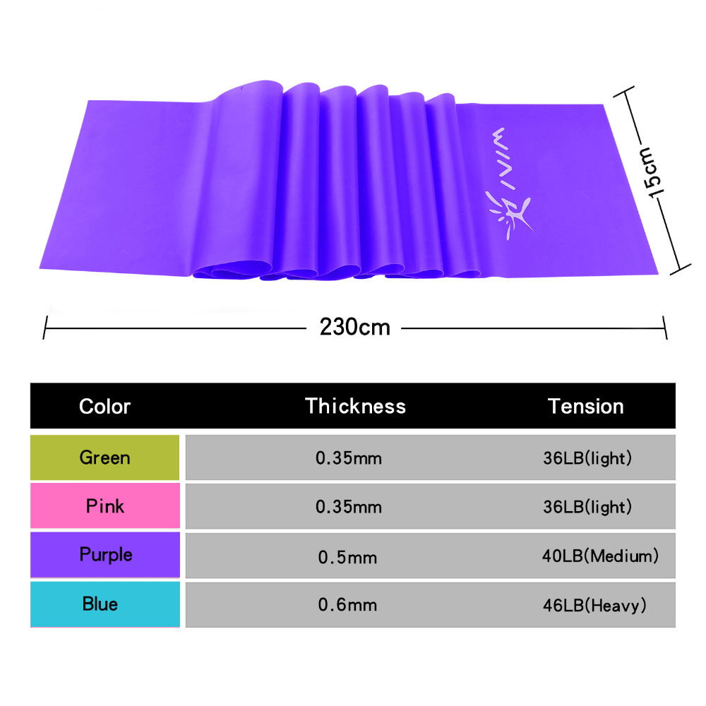 230cm Yoga Fitness Pull Rope Resistance Bands Latex Elastic Stretch Tension Band Exercise Equipment Training Workout Sports in Resistance Bands from Sports Entertainment