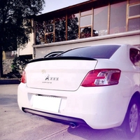 MONTFORD ABS Plastic Material Unpainted Primer Rear Trunk Boot Wing Spoiler For Peugeot 301 Spoiler 2013 2014 2015 Car Styling