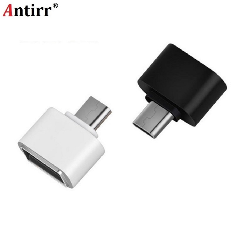 Antirr USB Female to USB-C Type C 3.1 OTG Male Data Adapter For Samsung S8 LG G6 G5 V20 OnePlus 2 3 Huawei P9 P10 Plus mate9