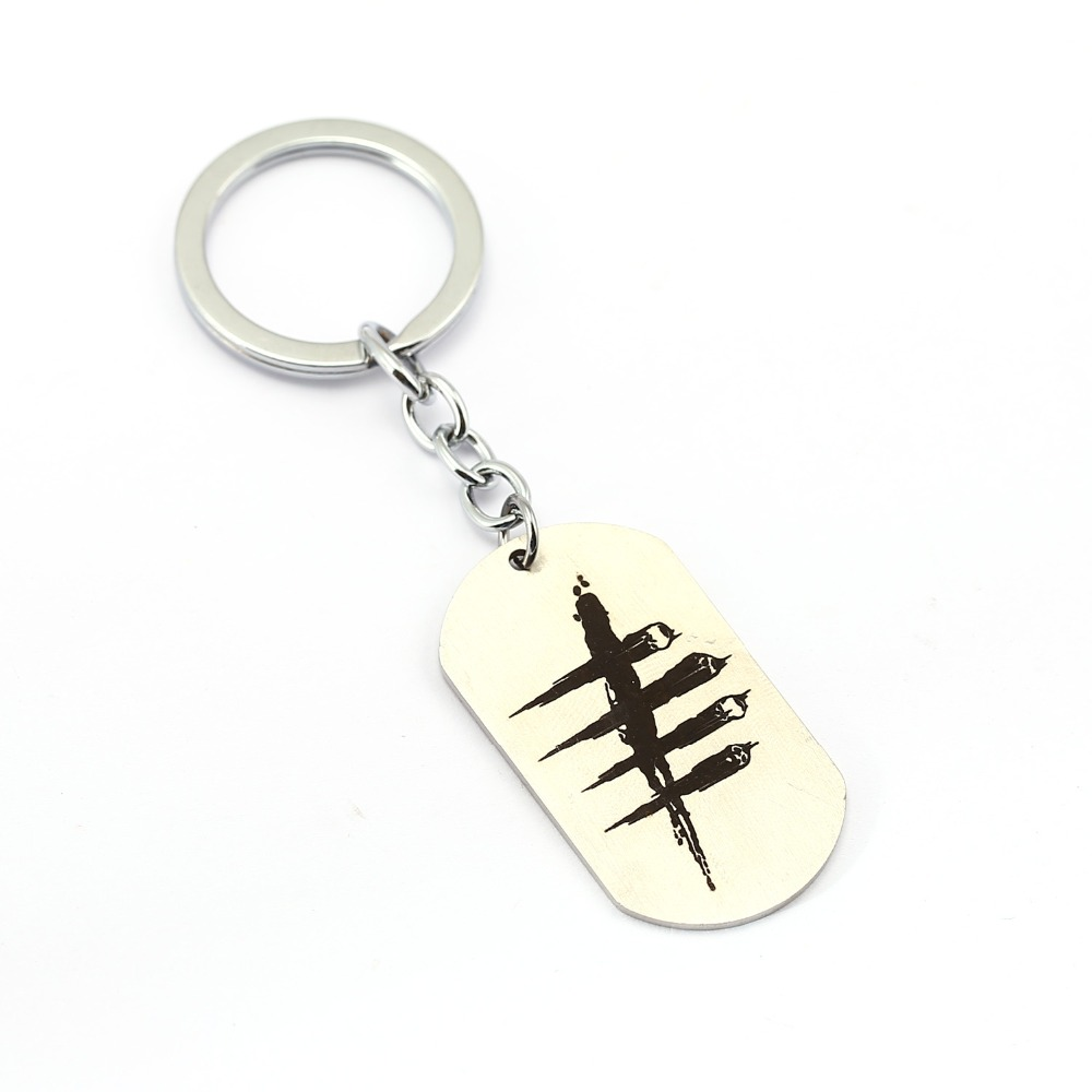 Latest style Dead by Daylight Dog Tag Logo Zinc Alloy Pendant Keychain For Fans Car Game Jewelry Key Ring Holder Llaveros