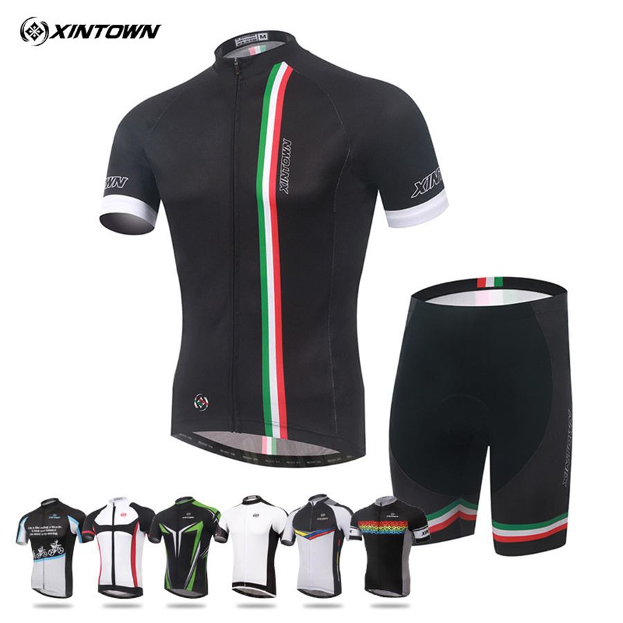 2018 MenS & WomenS New Italian Cycling Jersey Short Sleeve Set Bike Wear Summer Moisture Sweat Clothes Pants L096