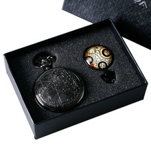 Pocket Watch Doctor Chain Necklace Gift-Box Classic Cool Women YISUYA Who-Design 1set