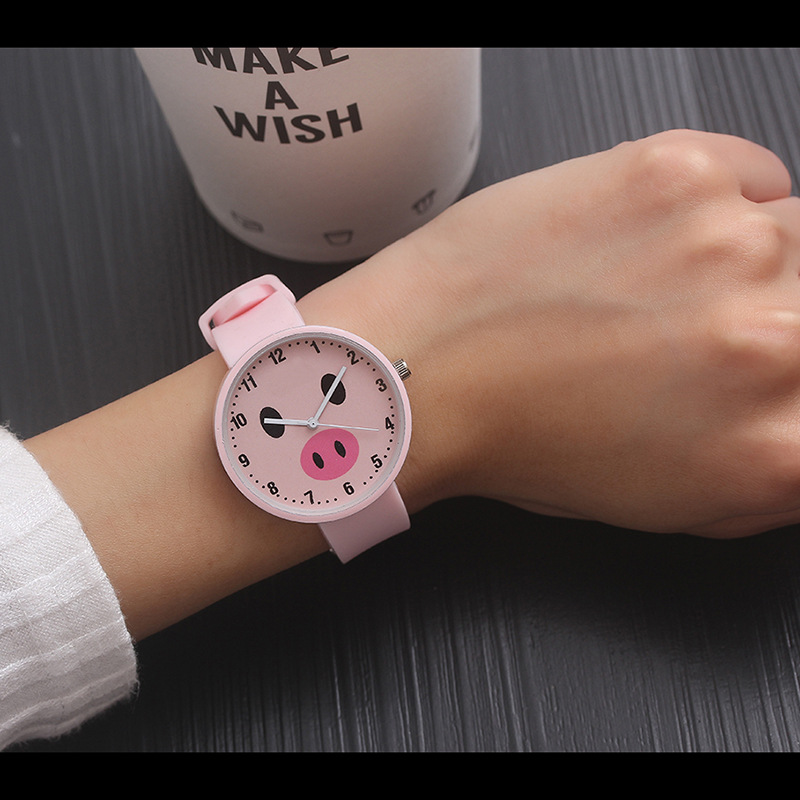 Fashion Cute Pig Wrist Watches Children Watch Silicone Dress Quartz WristWatch Kids Hours Gift For Girls Boys Relogio Infantil