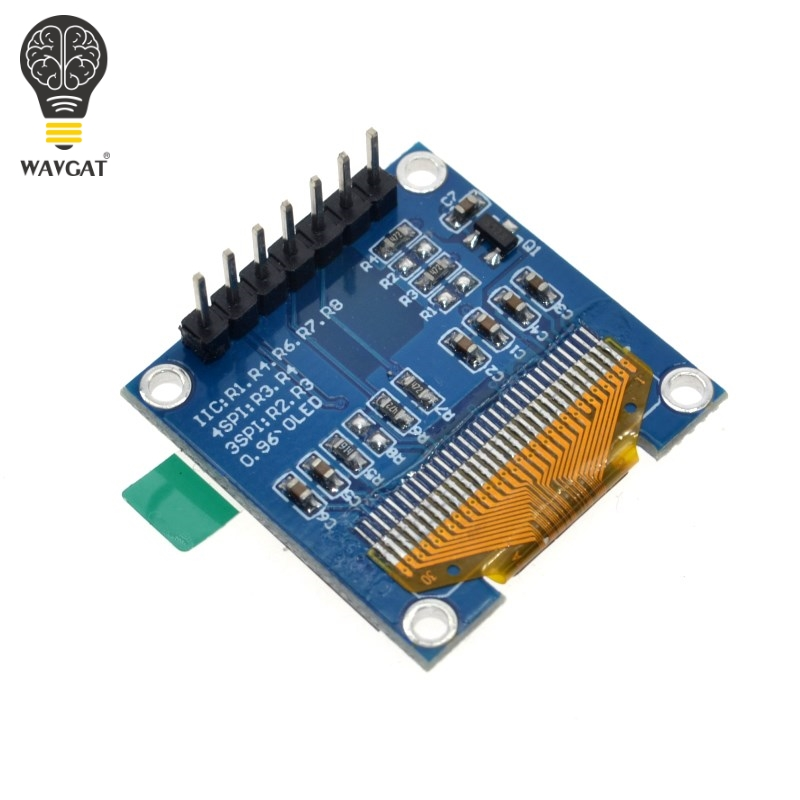 1pcs 0.96 Inch SPI OLED Display Module Blue color 128X64 OLED 7Pin Driver Chip SSD1306 for arduino