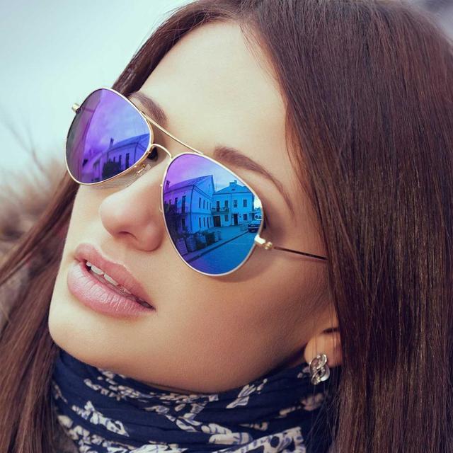 c1399e56c3e2 LOMEDO Sunglass Women Sun Glasses Fashion Aviator Polarized Sunglasses  Clout Goggles Polarized Eyewear for Men Uv Protection