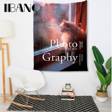 IBANO Cat Mandala Tapestry Art Wall Hanging Blanket Home Decoration for Bar Kitchen Room Living