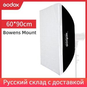 "Image 1 - Godox  60 x 90cm 24""x 35"" Speedlite Studio Strobe Flash Photo Reflective Bowens Mount Softbox Diffuser for DE300 DE400 SK300"