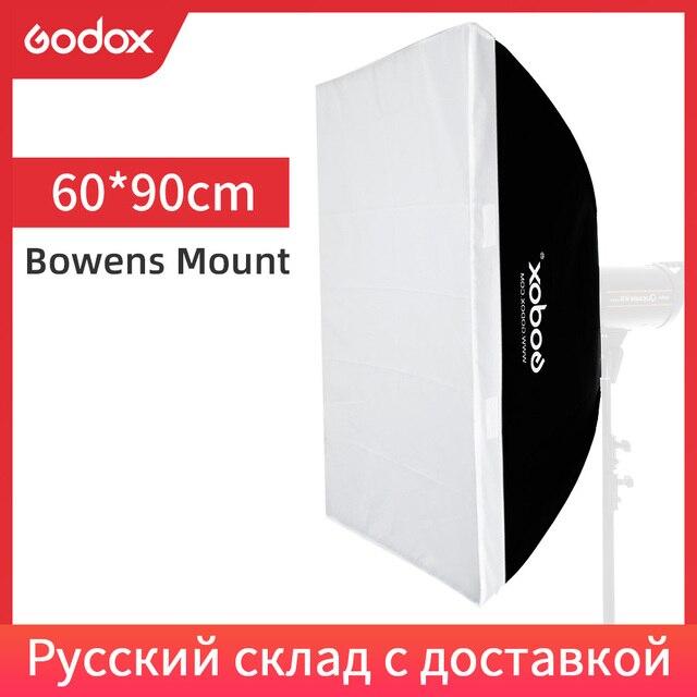 "Godox  60 x 90cm 24""x 35"" Speedlite Studio Strobe Flash Photo Reflective Bowens Mount Softbox Diffuser for DE300 DE400 SK300"