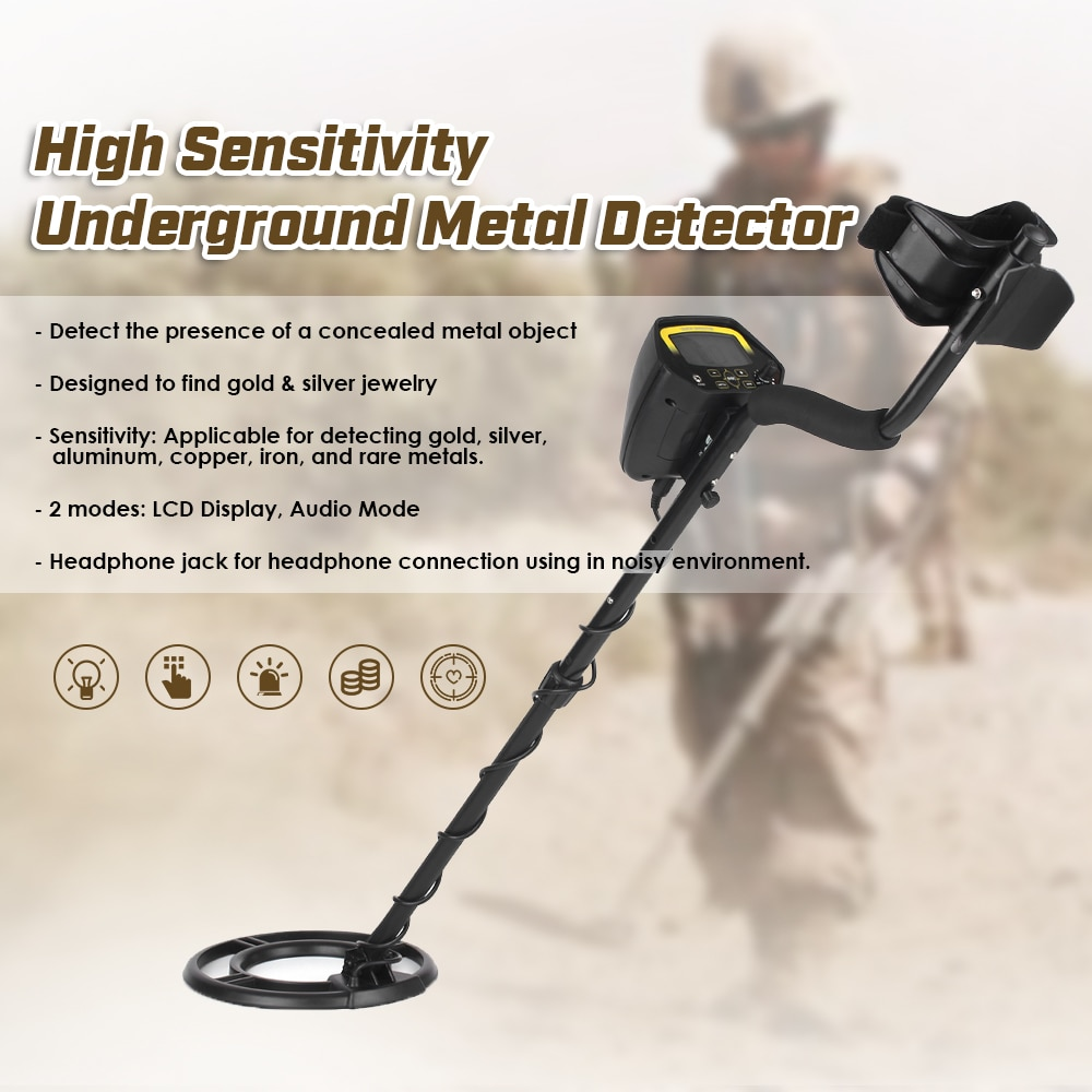 LCD underwater Metal Detector underground Gold Detector Gold Digger Treasure Hunter + Adjustable Search Coil Folding ShovelLCD underwater Metal Detector underground Gold Detector Gold Digger Treasure Hunter + Adjustable Search Coil Folding Shovel