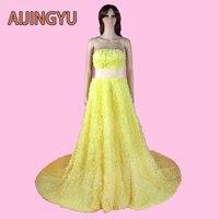 AIJINGYU 2017 nieuwe gratis verzending geel china bruidsjurken goedkope eenvoudige trouwjurk sexy vrouwen meisje trouwjurken gown sy11