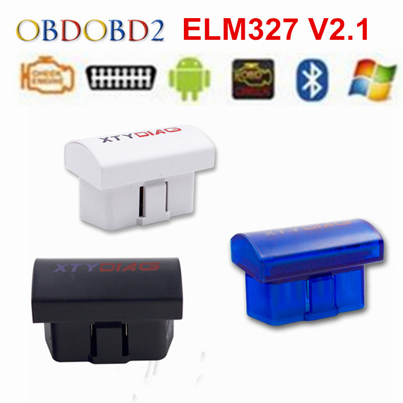 Latest V2.1 Super MINI ELM327 Bluetooth OBD/OBD2 Wireless ELM 327 Multi-Language 12Kinds Works ON Android Torque/PC
