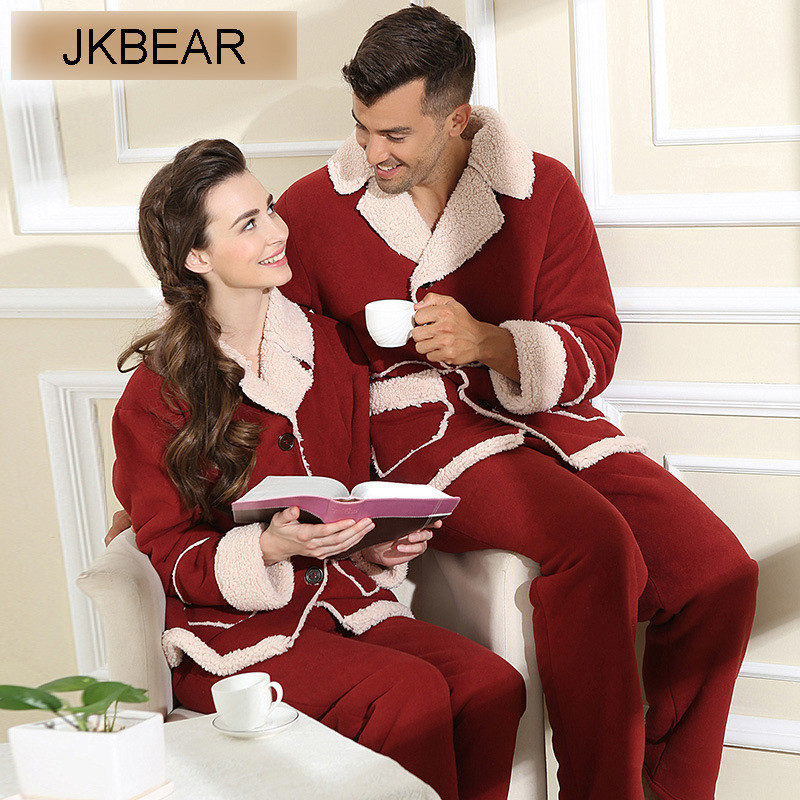 high quality matching christmas pajamas for couples plus size thicken fur lined family holiday pjs m xxl in pajama sets from mens clothing accessories on