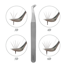 AS09 tweezers for volume eyelash extension 3D 5D 6D stainless steel tool individual