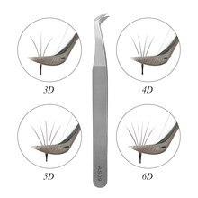 Pinzas AS09 para extensiones de pestañas, pinza para extensión de pestañas, 3D, 5D, 6D, de acero inoxidable, herramienta individual
