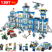 1397 Pcs Police Station Anti Terrorism Action Model Building Blocks City Series Set Compatible LegoINGLYS Gift For Child Toy
