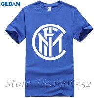 Mens T Shirts Fashion 2017 Inter Milan Logo Printed T Shirt Cotton O NECK Short Sleeved