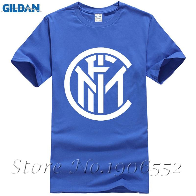 Mens t shirts fashion 2017 Inter Milan logo Printed t shirt Cotton O NECK short sleeved t-shirt Summer tshirt euro size