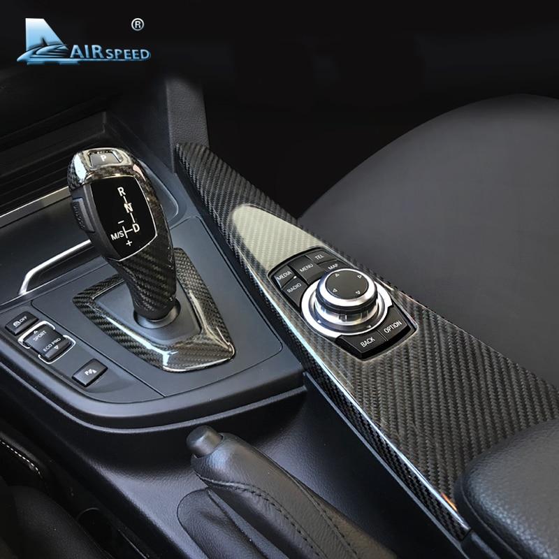 Carbon Fiber Car Handbrake Grips Cover Trim For BMW 3 Series E90 F30 2005-2017