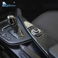 Airspeed for BMW F30 F31 F32 F34 F33 F36 Accessories LHD Carbon Fiber Gear Shift Knob Cover Multimedia Button Panel Trim Sticker