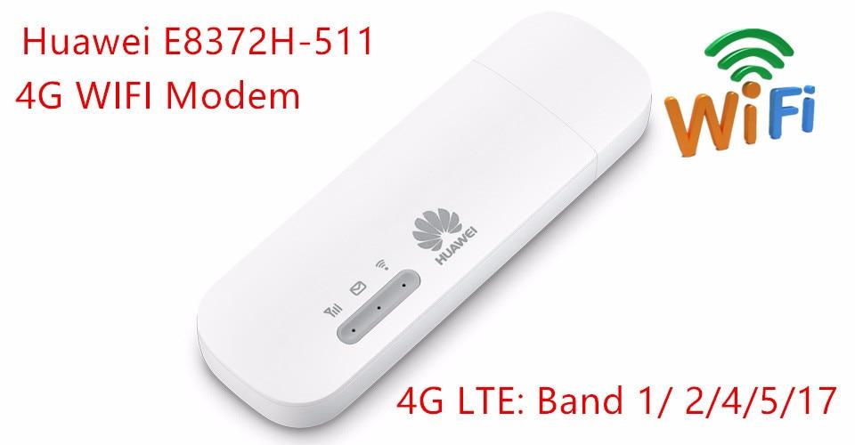 Pocket 3G/4G Wifi modem E8372h-511 150Mbp 4G LTE USB Modem Stick SIM Data Card Mobile Wifi Hotspot for Outdoor Wireless Sharing zte mf910 mf910v 4g lte mobile wifi wireless pocket hotspot router modem unlocked
