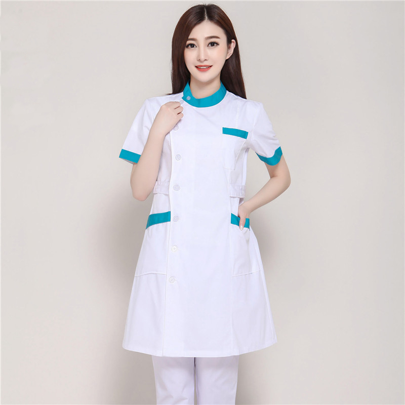 New Summer Short Sleeve Female White Lab Coat Medical Clothes ...