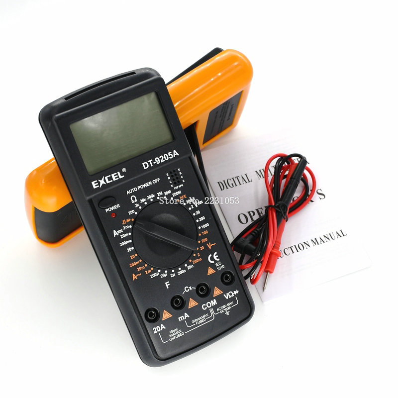 DT9205A AC DC LCD Display Professional Electric Handheld Tester Meter Digital Multimeter Multimetro Ammeter Multitester цены