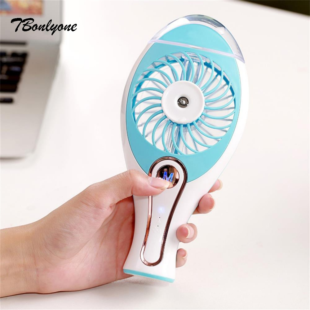 Tbonlyone 1200Mah Water Spray Humidifier Handheld Fan For Students Office Outdoor Travel Electric Mini Usb Rechargeable Mist Fan