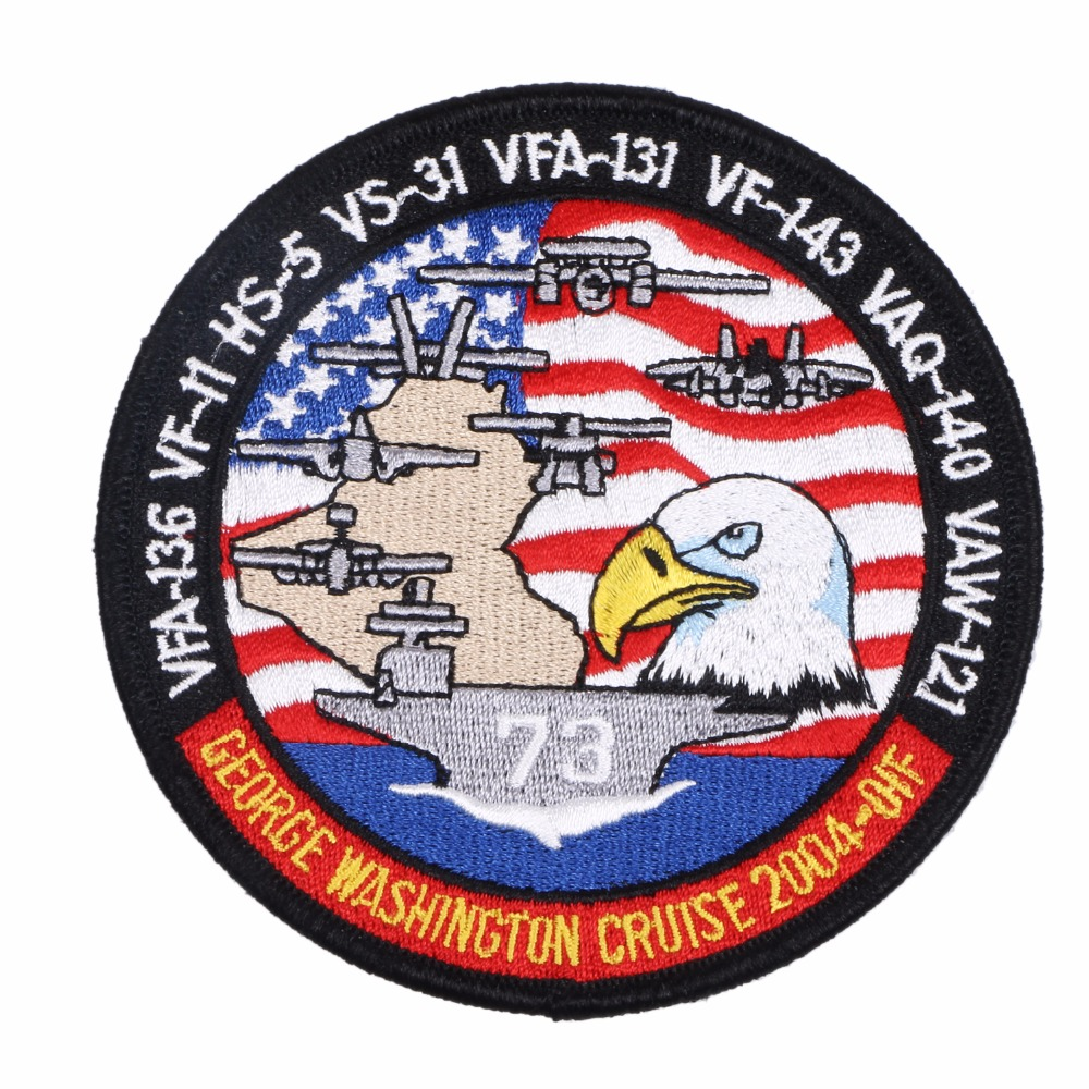 US NAVY Patch - CVN-73 USS George Washington 2004 Cruise OIF VFA-136 VF-11 HS-5