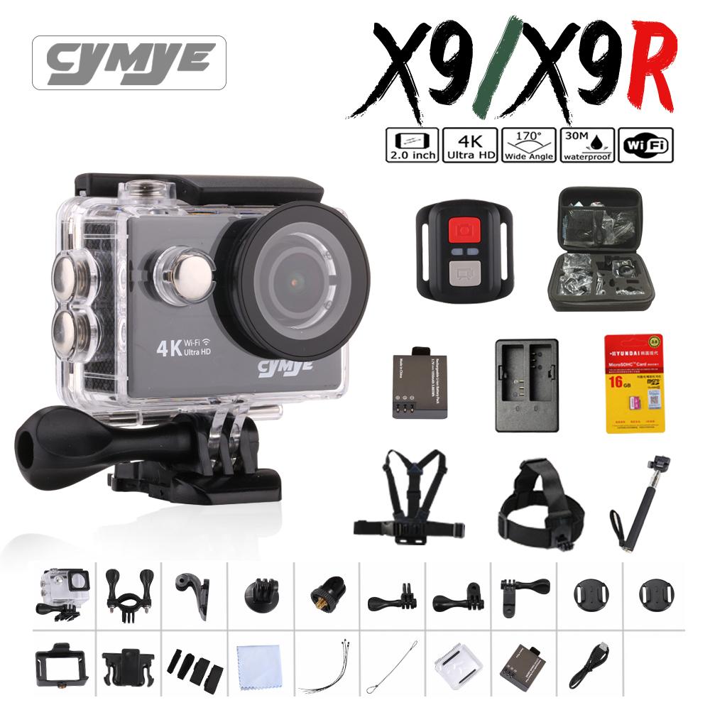 Prix pour Cymye d'action caméra X9 et X9R (OEM par Eken H9) à distance Ultra HD 4 K WiFi 1080 P 60fps 2.0 LCD 170D sports go caméra pro étanche