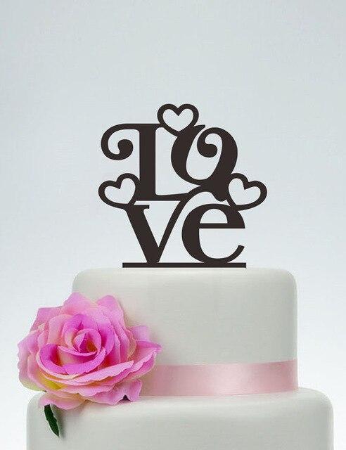 Acryl Herz Liebe Benutzerdefinierte Name Geburtstag Hochzeit