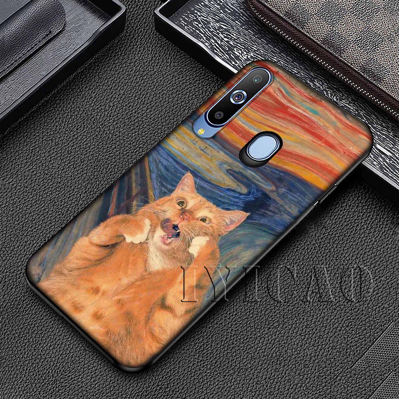 Leonardo Da Vinci Mona Lisa Mèo David Đại Van Gogh Ốp Lưng Dành Cho Samsung Galaxy Samsung Galaxy A70 A60 A50 A40 A30 A20 a10 A50S A30S A20E A70S