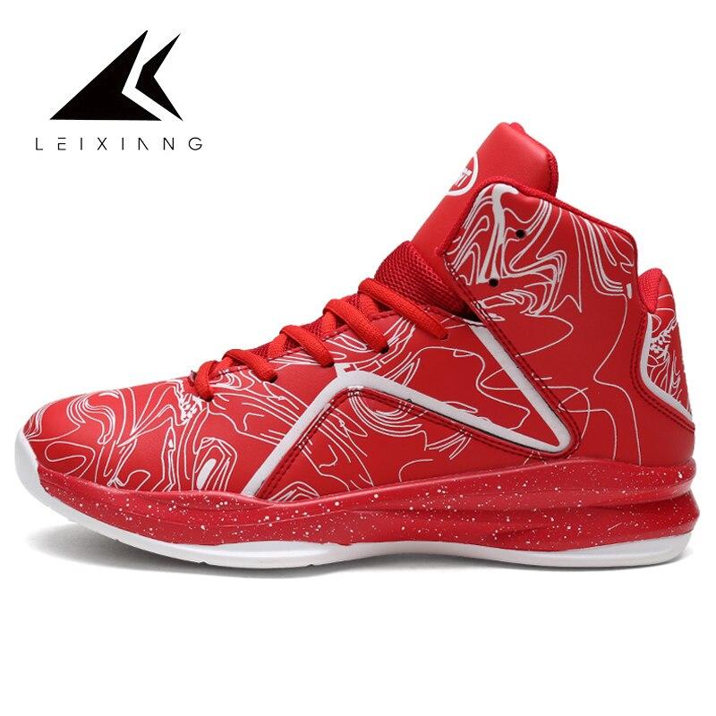 New High Top Basketball Shoes Men Light Basketball Sneakers Anti Skid Outdoor Sport Shoes 2019 Spring Zapatillas De Baloncesto