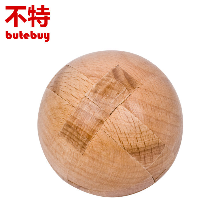 Ball Lock Unlocking ring Wooden Puzzle IQ Mind Brain Teaser Puzzles Game for Adults Children Kids Gift board games toy ball finding game ru bun lock children puzzle toy building blocks