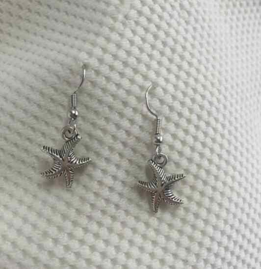 ED 0183 2017 Bohemia viento moda retro colgante estrella de mar pendientes de joyería de alta calidad Ropa Accesorios regalo para las mujeres